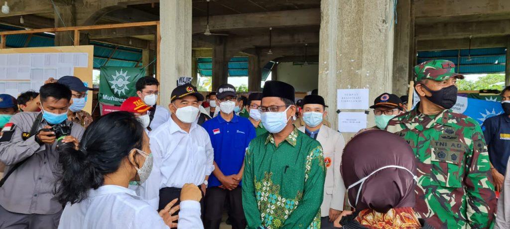 Menteri Kabinet Indonesia Maju Kunjungi Pos Koordinasi Muhammadiyah Di Mamuju